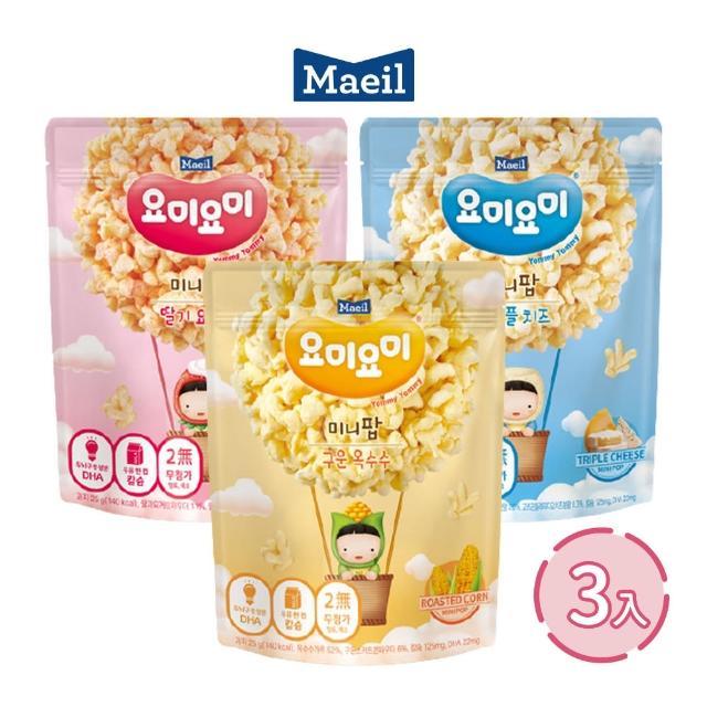 【韓國每日Maeil】玉米脆3入組合包(12個月以上幼兒適吃 100%來自大自然的健康零食)