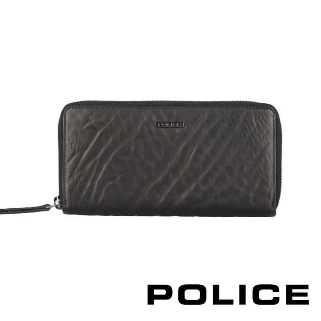 【POLICE】義大利潮牌 頂級小牛皮拉鍊長夾(雷諾系列)