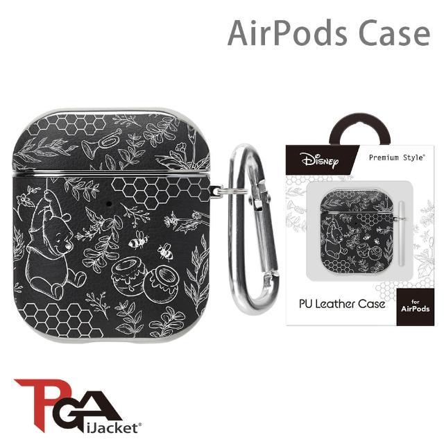 【iJacket】迪士尼 AirPods 箔押皮革 質感保護殼(小熊維尼)