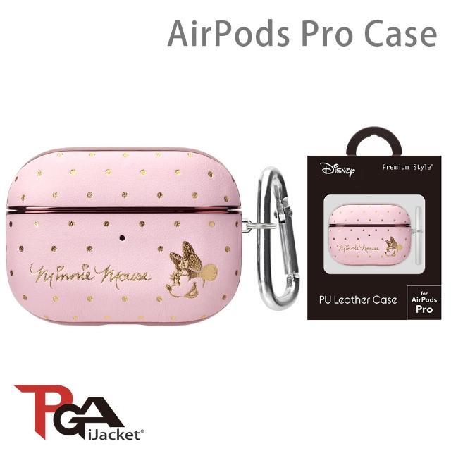 【iJacket】迪士尼 AirPods Pro 箔押皮革 質感保護殼(米妮)