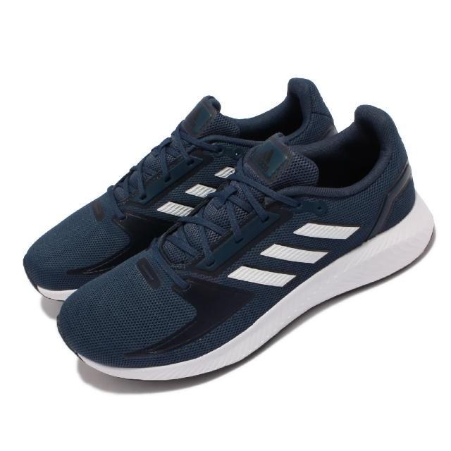 【adidas 愛迪達】慢跑鞋 Runfalcon 2.0 運動 男鞋 愛迪達 輕量 透氣 舒適 避震 路跑 藍 白(GZ8077)