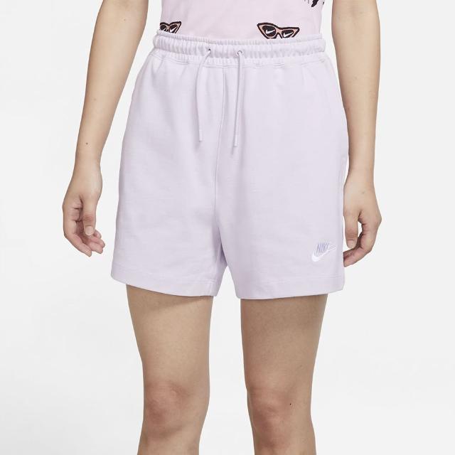 【NIKE 耐吉】短褲 女款 運動 慢跑 AS W NSW JSY HR SHORT 淺紫 CJ3755-511
