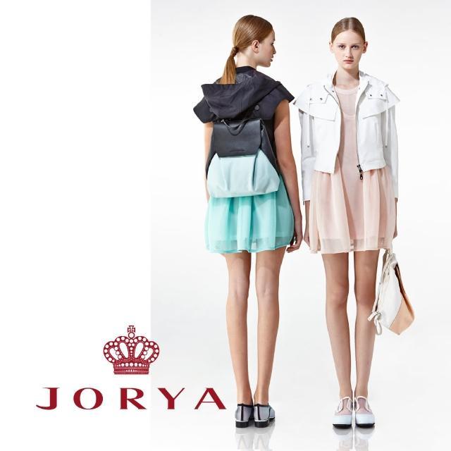 【JORYA】weekendH2000605馬卡龍透膚網狀收腰無袖連身洋裝