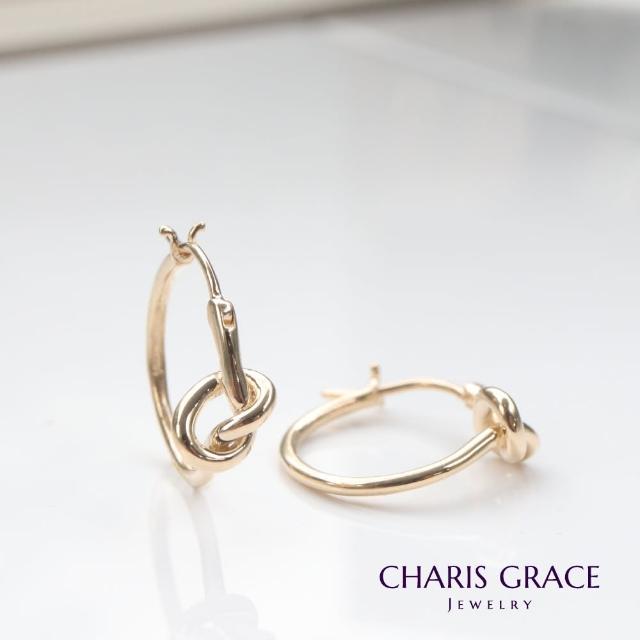 【CHARIS & GRACE 佳立思珠寶】14K Gold Tie Lock Earring 金結耳扣式耳環