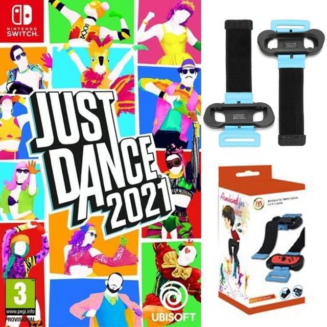 【Nintendo 任天堂】Switch 舞力全開2021+JYS舞力腕帶(國際外盒版 支援中文 拳擊 有氧 體感 臂帶 綁帶)