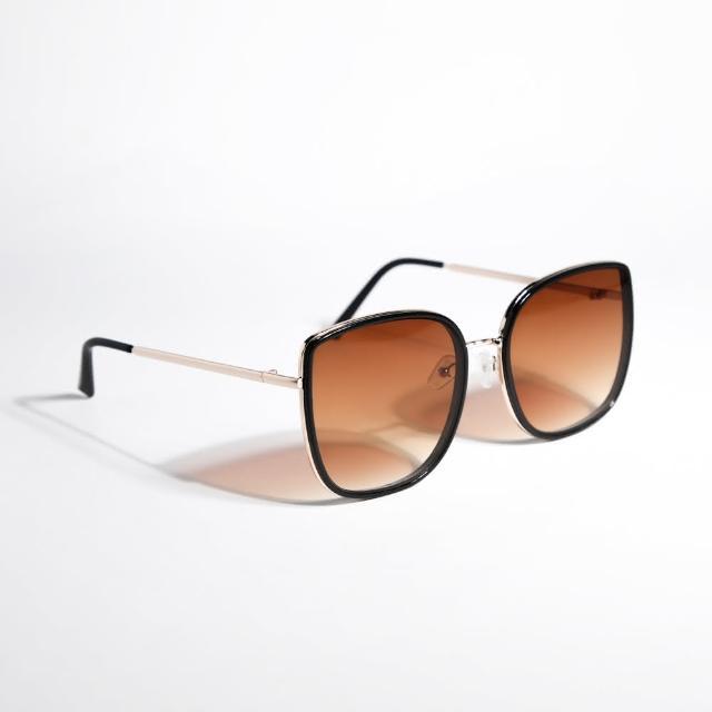 【ZANZAN 冉冉】琥珀咖黑框墨鏡(太陽眼鏡)