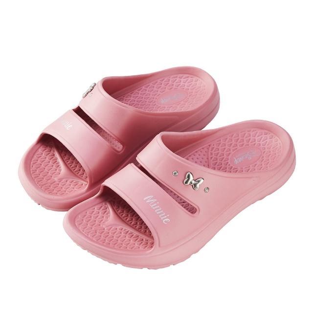 【Disney 迪士尼】迪士尼女鞋 米妮 運動風輕量防水厚底拖鞋-粉(MIT台灣在地工廠製造)