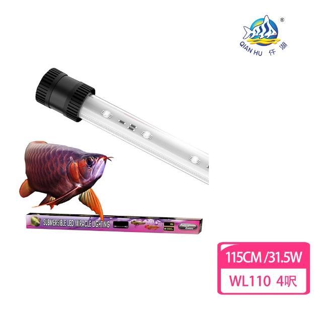 【仟湖】水中神奇美光燈 紅龍專屬 4呎銀框(水中燈 美色燈 模擬陽光)