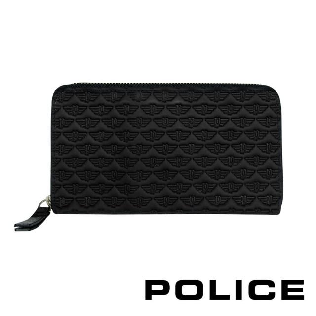 【POLICE】限量1折 義大利潮牌 頂級小牛皮拉鍊長夾 全新專櫃展示品(艾爾頓系列)