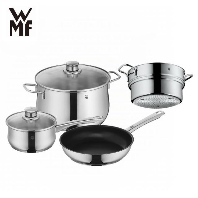 【WMF】DIADEM PLUS 湯鍋不沾鍋三鍋五件組(贈蒸籠)