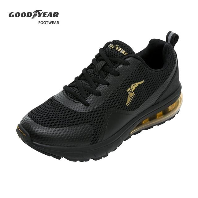 【GOODYEAR 固特異】緩震氣墊慢跑鞋/男 透氣 黑(狂獵GAMR93630)