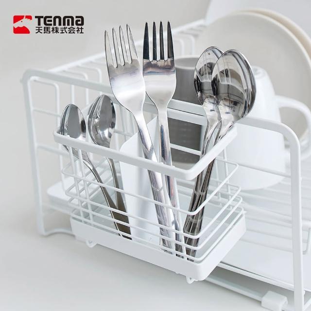【日本天馬】廚房系列可掛式筷子叉勺餐具分類瀝水籃(筷子筒 筷架 廚房餐具瀝水架 叉勺收納架)