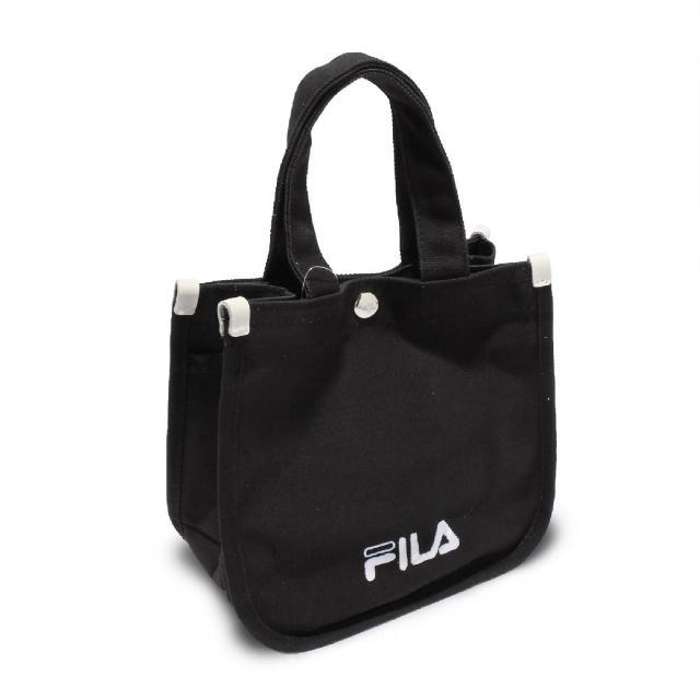 【FILA】托特包 Hand Shoulder Tote Bag 斐樂 外出 輕便 手提包 可斜背 穿搭 黑 白(BMV7014BK)