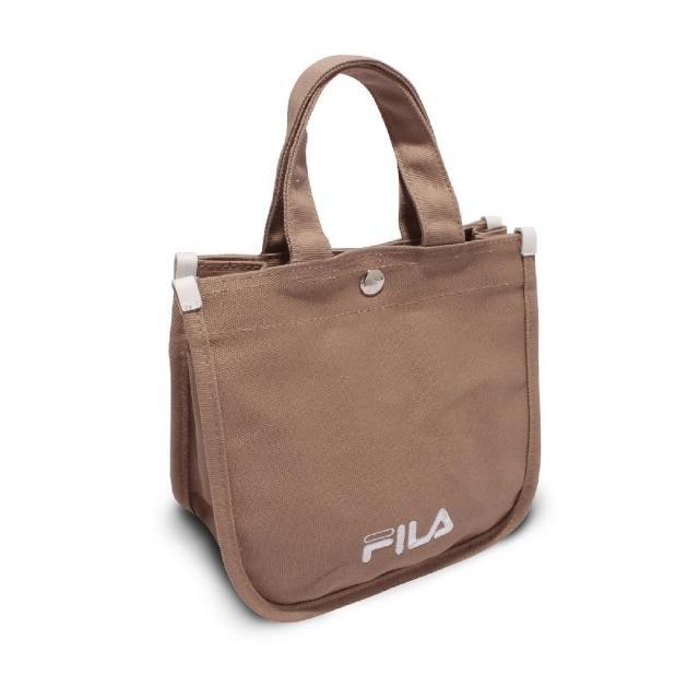 【FILA】托特包 Hand Shoulder Tote Bag 斐樂 外出 輕便 手提包 可斜背 穿搭 淺褐 白(BMV7014KK)