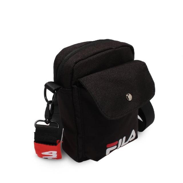 【FILA】斜背包 Shoulder Bag 男女款 斐樂 外出 輕便 手機包 休閒穿搭 黑 白(BMV7017BK)