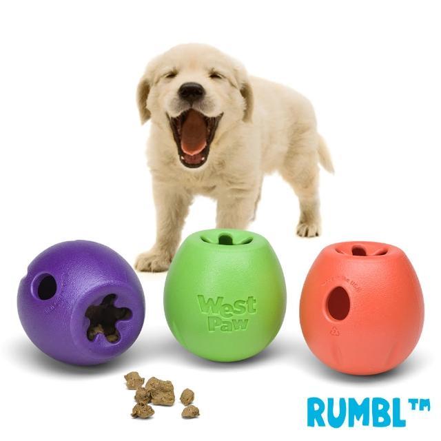 【West Paw】Rumbl 漏食球-大(一年保固-適中大型犬-)