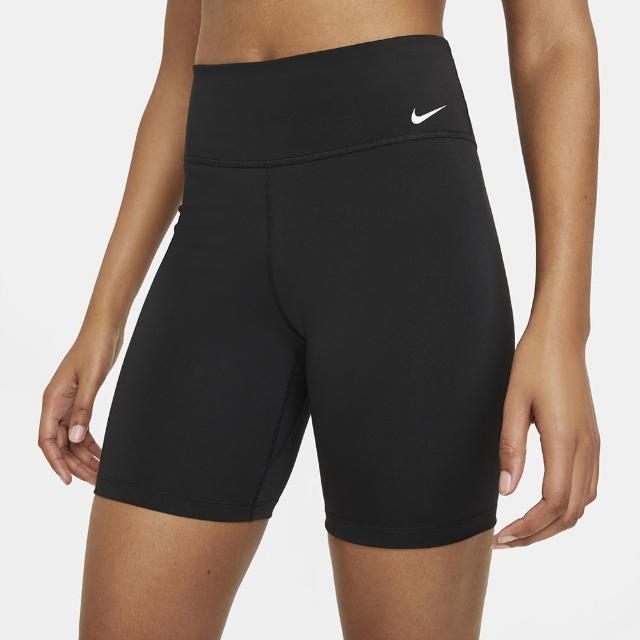 【NIKE 耐吉】短褲 女款 運動短褲 緊身褲 瑜珈 慢跑 AS W NK ONE DF MR 7IN SHRT 黑 DD0244-010