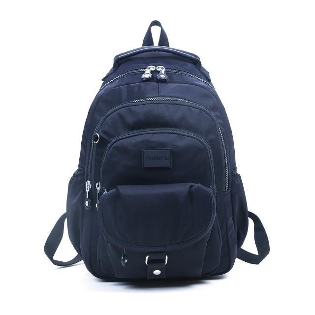 【VIVI SECRET】素色休閒防潑水多隔層手提/後背包(藍色 大容量後背包)