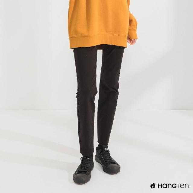 【Hang Ten】女裝-經典款-SLIM FIT五袋款長褲-黑色