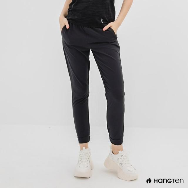 【Hang Ten】女裝-恆溫多功能-REGULAR FIT標準四向彈力吸濕快乾抗曬運動長褲-深灰