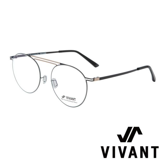 【VIVANT】韓國 經典雙槓 圓框 光學眼鏡(.黑/金 pont C5)