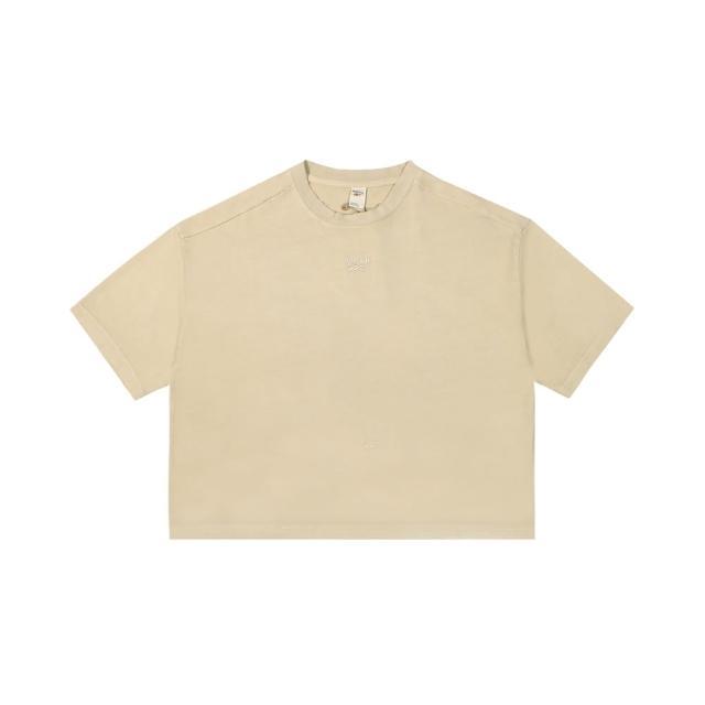 【REEBOK】圓領T恤 短袖 CL RBK ND CROPPED T-SHIRT 女-GN4600