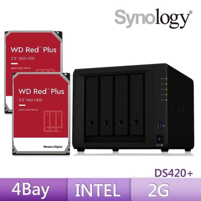 【搭WD 紅標 4TB x2】Synology 群暉科技 DS420+ 4Bay 網路儲存伺服器
