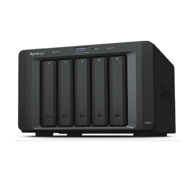 【搭WD 紅標 4TB x2】Synology 群暉科技 DX517 硬碟擴充裝置