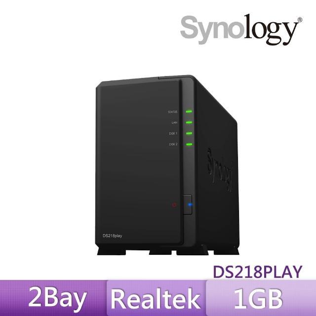 【搭WD 紅標 4TB x2】Synology 群暉科技 DS218play 網路儲存伺服器