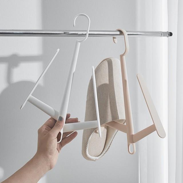 【AOTTO】北歐風壁掛式收納鞋架-2入(毛巾架 室內拖鞋架 浴室收納架)