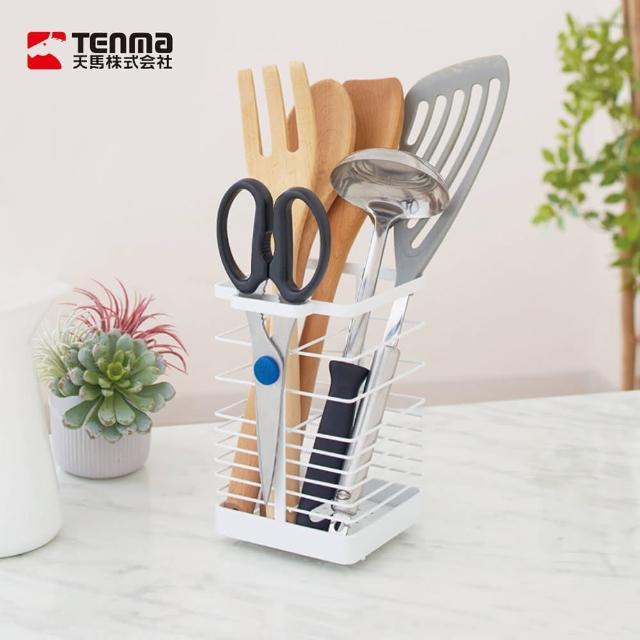 【日本天馬】廚房系列筷匙廚具分類瀝水架(廚具收納架 筷子筒 廚具架 湯勺置物架)