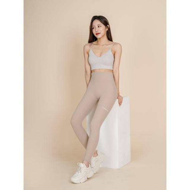 【GRANDELINE】無縫彈力翹臀長褲 - 淺米 - PT352(運動褲、瑜珈褲、緊身褲、九分褲)