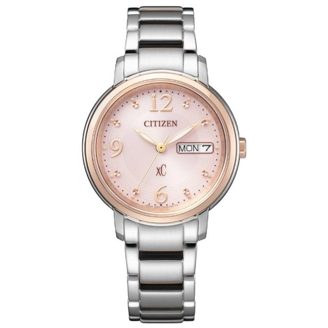 【CITIZEN 星辰】xC 浪漫甜心限定款光動能時尚女錶-32.5mm(EW2425-57W)