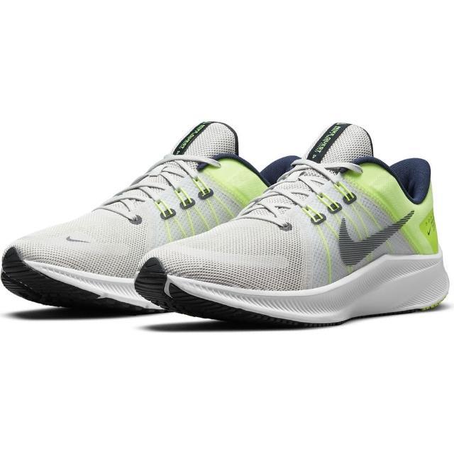 【NIKE 耐吉】慢跑鞋 Quest 4 避震 運動 男鞋 輕量 透氣 舒適 Flywire技術 灰 黃(DA1105003)