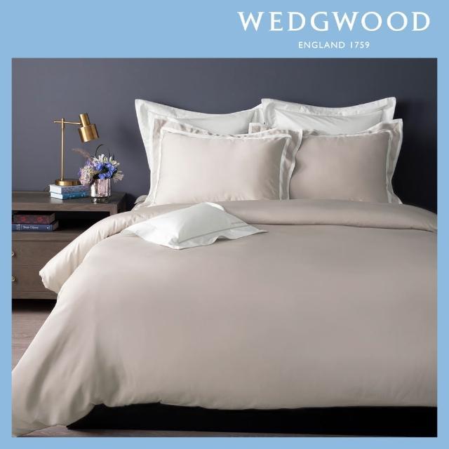 WEDGWOOD【WEDGWOOD】100%天絲床包兩用被套枕套四件組-簡約米卡其(加大)