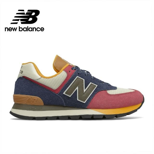 【NEW BALANCE】NB 復古運動鞋_男鞋/女鞋_藍粉黃_ML574DNY-D楦