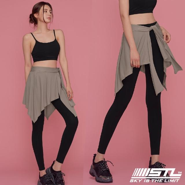 【STL】yoga 韓國瑜珈 HIP COVER 運動機能一片式綁帶外罩裙(拿鐵咖啡Hazelnut)