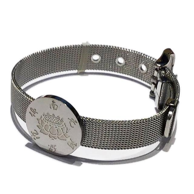 【十方佛教文物】阿彌陀佛+鈦鋼手錶型手環(大悲咒加持108遍以上)