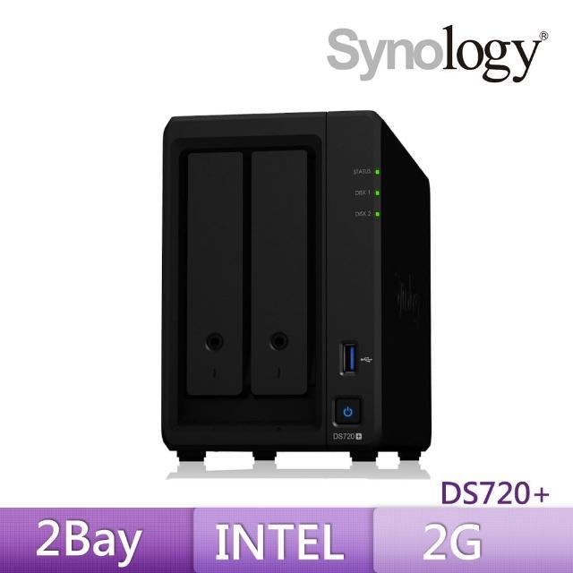 【送8埠 Giga交換器】Synology 群暉科技 DS720+ 2Bay 網路儲存伺服器