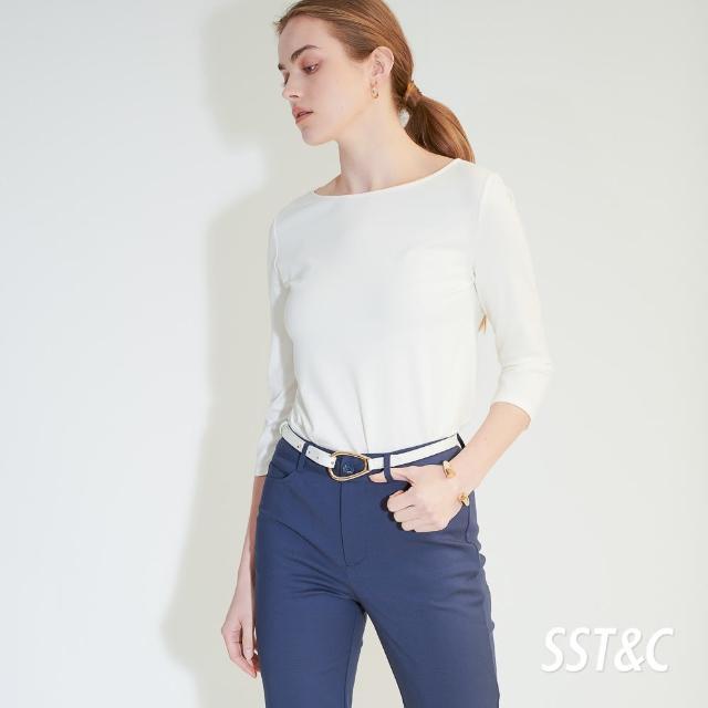 【SST&C】白色船型領七分袖上衣7662104006