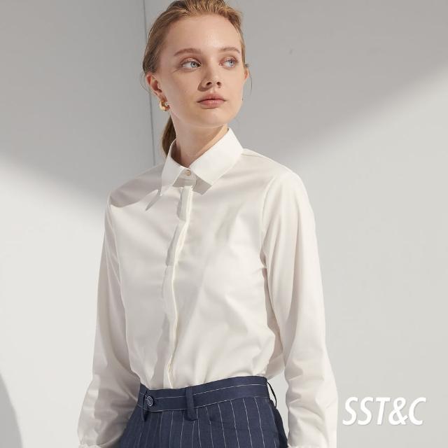 【SST&C】白色袖口抽皺襯衫7562104001