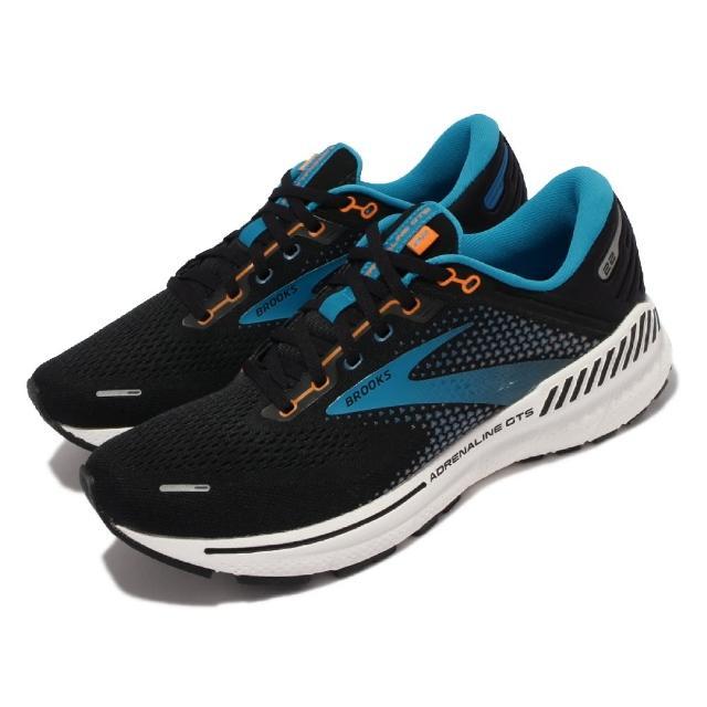 【BROOKS】慢跑鞋 Adrenaline GTS 22 男鞋 路跑 緩震 輕量 透氣網布 腎上腺素 黑 藍(1103661D034)