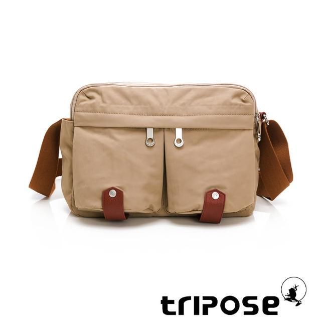 【tripose】MOVE系列多格層機能斜背包(奶茶駝)