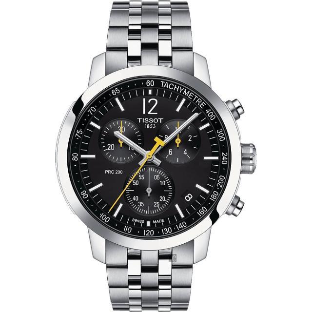 【TISSOT 天梭】T-Sport系列 PRC200 競速三眼計時腕錶(T1144171105700)