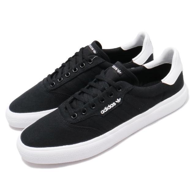 【adidas 愛迪達】休閒鞋 3MC 低筒 運動 男鞋 海外限定 愛迪達 三葉草 舒適 球鞋穿搭 黑 白(B22706)
