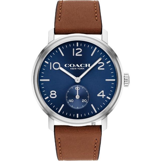 【COACH】時尚小秒盤紳士手錶-42mm(14602546)