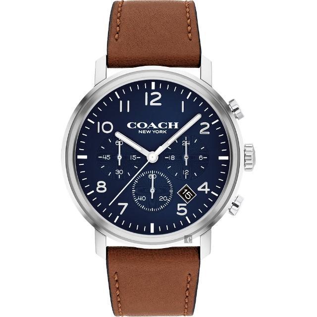 【COACH】三眼計時日曆手錶-42mm(14602542)