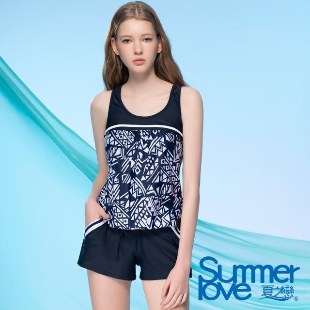 【Summer Love 夏之戀】泳衣 大女連身褲二件式(E21710)