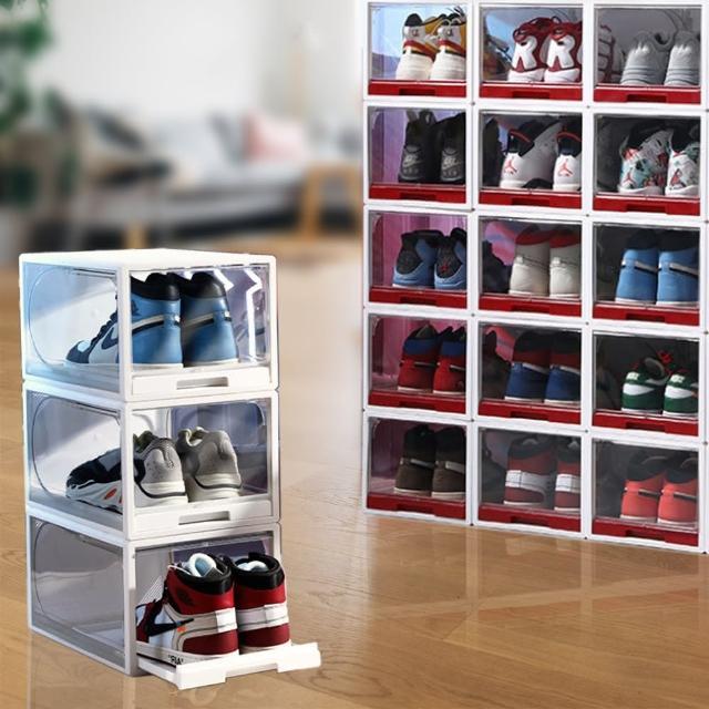 【ONE HOUSE】拉推式專利組裝鞋盒(1組6入)