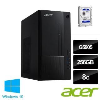 【Acer 升級+1TB SATA硬碟】Aspire TC-875 G5905 雙核心電腦主機(G5905/8G/256G SSD/Win10)
